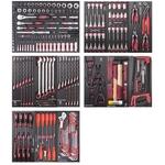 """KRAFTWERK Assortiment d'outils, EVA, 1/4"""" + 3/8"""" + 1/2"""", PB+HT, 287 -"""