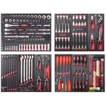 """KRAFTWERK Assortiment d'outils, EVA, 1/4"""" + 3/8"""" + 1/2"""", PB+HT, 226 -"""