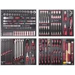 """KRAFTWERK Assortiment d'outils, EVA, 1/4"""" + 3/8"""" + 1/2"""", 219 -pièces"""