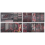 """KRAFTWERK Assortiment d'outils, EVA, 1/4"""" + 3/8"""" + 1/2"""", 308 -pièces,"""
