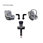 AVIONAUT Kindersitz PIXEL + IQ IsoFIX Base + AEROFIX - Grey Melange