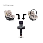 AVIONAUT Kindersitz PIXEL + IQ IsoFIX Base + AEROFIX - Beige Melange