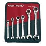 KRAFTWERK 6-t. GearWrench-Satz 8-19 mm Rolltasche 3404-51