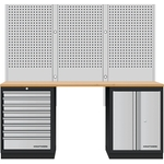 KRAFTWERK 3-Element-Schrankw. mit Vierkantlochwand 3964K-80S-W