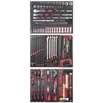 KRAFTWERK Ass. d'outils 3 tir. COMPLETO EVA 187pcs 105.516.000