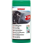 SONAX Tücherbox, KunststoffPflegeTücher, glänzend, Box à 25 Tücher