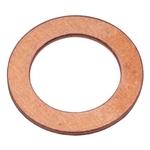 Dichtringe, Form A Kupfer massiv 10 x 14 x 1, Pack à 100 Stück