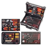 KRAFTWERK 123-t. Mallette d'outils professionnels en aluminium KW VDE