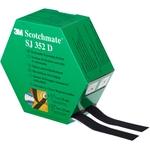 3M Haken- und Schlaufenband SJ352D, Schwarz, 2×25 mm×5 m, 4.4 mm, Innenbereich, Spenderbox