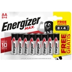 Energizer Batterie MAX AA 8+4