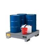 FILCAR Bac de rétention pour 3 fûts OD-ST-304, 134x125x30 cm, 97 kg
