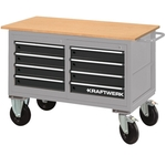 KRAFTWERK Werkstattwagen mit 8 Schubladen, 835×1300×600 mm, 121kg