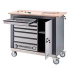 STAHLWILLE Werkzeugsortiment Nr.815/3QR mit Werkbank WB 620, 132-teilig