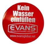EVANS Kleber, STOP kein Wasser einfüllen, DE, 1 Stk.