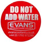 EVANS Sticker, STOP do not add water, EN, 1 Stk.