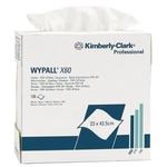 KIMBERLY-CLARK Wypall X60 8376 en boîte distributeur, blanc, 126 chiffons de 23 x 42.5 cm