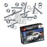 Aktionspaket DIN-Teile, 1200 Stk., sortiert, inkl. LEGO Porsche 911