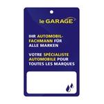 le GARAGE Ölwechsel-Etikette deutsch/französisch