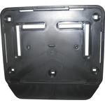 Cadre pour plaques d'immatriculation moto noir 18 x 14