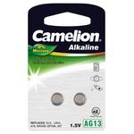 CAMELION Alkaline Knopfzelle, AG13-LR44-BP2, 2 Stück