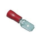 Flachsteckzunge isoliert, 6,3 mm, rot, Kabel Querschnitt 1.5mm²