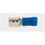 Flachsteckhülse teilisoliert, 8,2 mm, 1,5-2,5 mm2, blau, 1 Pack à 100 Stück