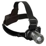 KRAFTWERK Arbeitsleuchte Aluminium, LED-Stirnlampe mit Zoom 32061