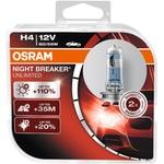 OSRAM Autolampe H4, Night Breaker Unlimited, 12 V 60/55 W, Blister-2