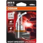OSRAM Autolampe H11, Night Breaker Unlimited, 12 V 55 W, Blister-1