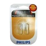 PHILIPS Autolampe 12516/2, T5, 12 V, 1,2 W, Glassockel, W2X4,6D,Blister-2
