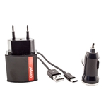 Phonix USB Typ C Travel Kit 3-in-1, schwarz