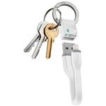 SBS MFI Lightning Lade- und Datenkabel mit Schlüsselanhängerfunktion, weiss