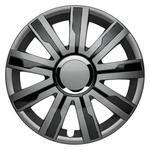 """ALBRECHT MASTER LINE Enjoliveurs de roue Mirage V Plus grey/black 16"""", jeu de 4 pièces"""
