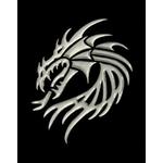 3-D Sticker, Drachen, 9 x 9 cm