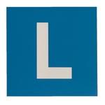 L-Schild für Motorräder, Kunststoff, 12 × 12 cm (inkl. EAN)
