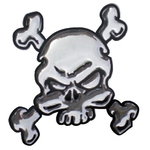 3-D Sticker Mini, Bicolor Totenkopf, 5 x 5 cm