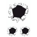 Aufkleber Einschussloch (3 Stk)