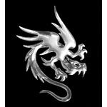 3-D Sticker Mini, Drache, 5 x 5 cm