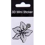 3-D Sticker Mini, Bicolor Hibiscus, 5 x 5 cm