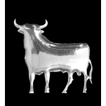 3-D Sticker Mini, Stier, 5 x 5 cm
