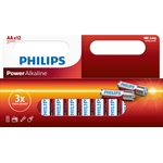 PHILIPS Power Alkaline Batterie, AA / LR6, 1.5 V, Pack à 12 Stück