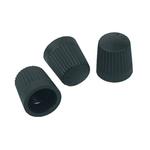 Bouchons de valve en plastique noir