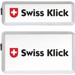 SwissKlick Nummernrahmen-Set chrom matt, 30 × 8 cm/30 × 16 cm