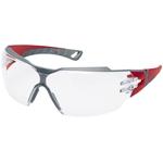 Uvex Schutzbrille Pheos CX 2, rot / grau