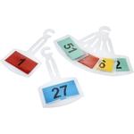 Leitzahlträger Spiegelanhänger gelb Nr. 1-25