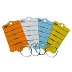 EICHNER Schlüsselanhänger Profi 1 weiss aus wiederstandsfähigem Hartkunstoff, inklusive Stahlringen und zwei wasserfesten Spezialstiften, Pack à 200 Stück
