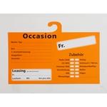 Occasion Preistafel, deutsch, aus Karton, zum Anhängen an Rückspiegel