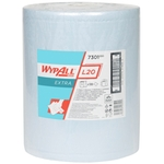 KIMBERLY-CLARK Wypall L20 Extra+ 7301, serviettes d'essuyage, 2 couches bleu