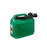 Bidon à essence en plastique pour 5 litres, vert/noir