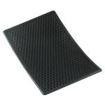 Tapis en caoutchouc alvéolé 53 × 37 cm, noir